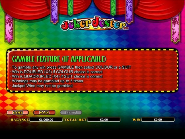 gamble feature rules - Free Slots 247