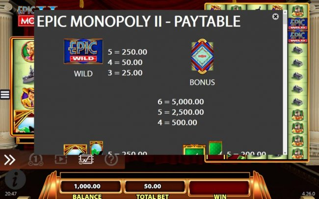 Free Slots 247 - High value slot game symbols paytable - Bonus symbols is the highest value symbol on the reels and a five of a kind will pay $5,000.