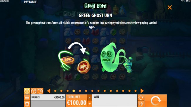 Free Slots 247 - Green Ghost Urn Feature