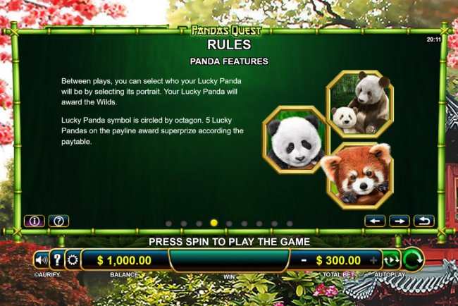 Free Slots 247 image of Pandas Quest