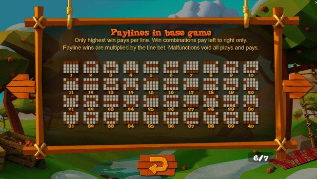 Free Slots 247 - Paylines 1-40
