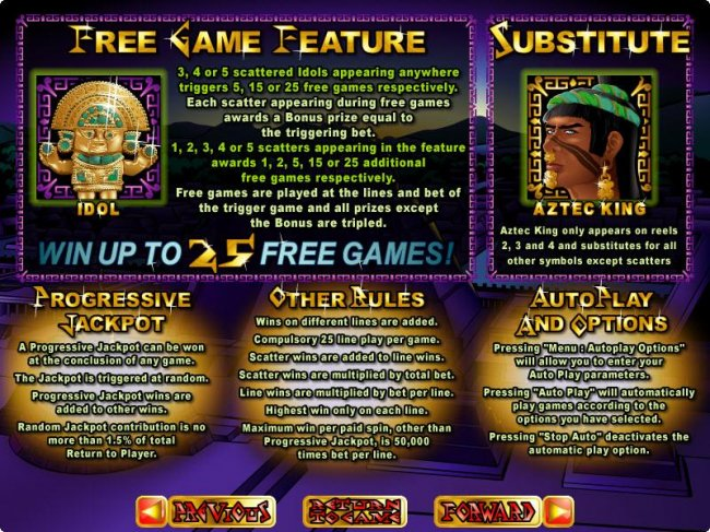 Aztec's Treasure Feature Guarantee by Free Slots 247