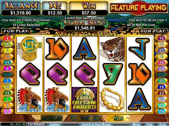 Free Slots 247 image of Aztec's Treasure Feature Guarantee
