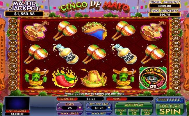 Free Slots 247 image of Cinco de Mayo