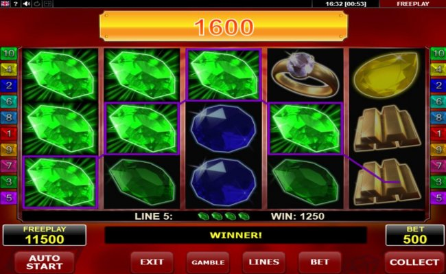 Hot Diamonds by Free Slots 247