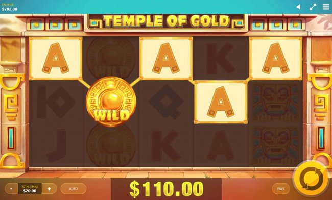 A winning five of a kind triggers a 110.00 big win. by Free Slots 247