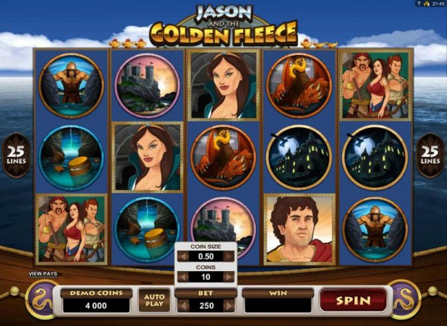 Jason and the Golden Fleece by Free Slots 247