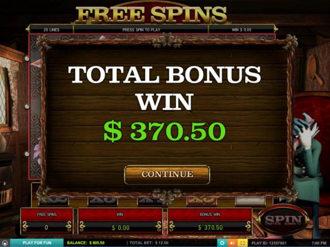 Total bous award is $370 for a big win! - Free Slots 247