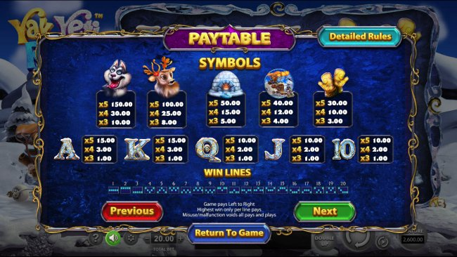 Yak Yeti and Roll by Free Slots 247