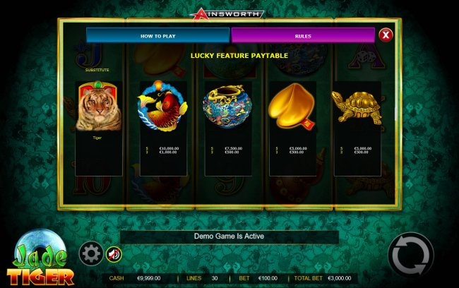 Lucky Feature - High Value Symbols - Free Slots 247