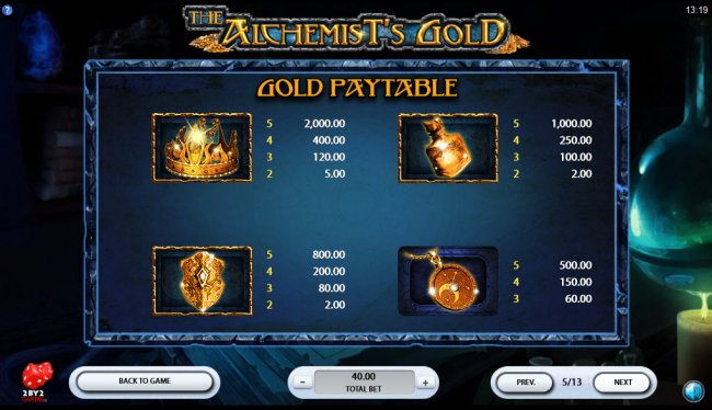 Free Slots 247 image of The Alchemist's Gold
