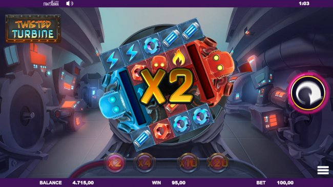 X2 multiplier achieved by Free Slots 247