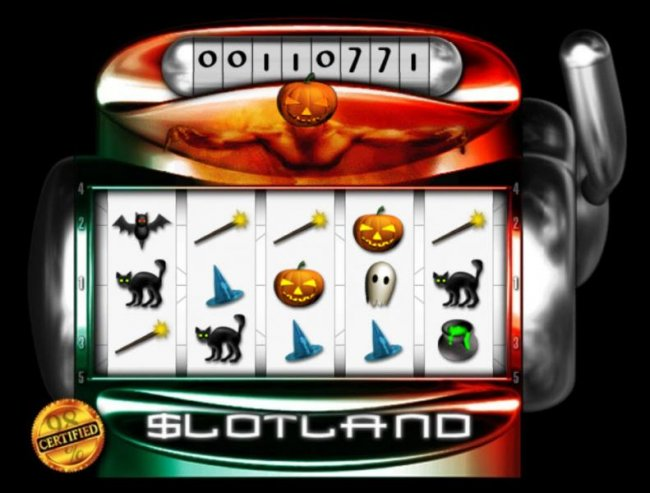 Main game board featuring five reels and 5 paylines by Free Slots 247