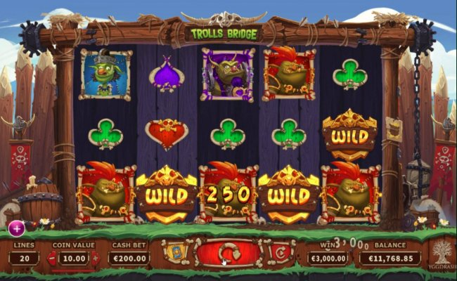 Wild symbols triggers winning combinations leading to a 3,000.00 jackpot. by Free Slots 247