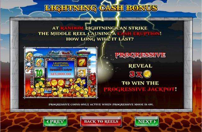 Free Slots 247 - Lightning Cash Bonus - at random lightning can strike the middle reel causing a cash eruption.