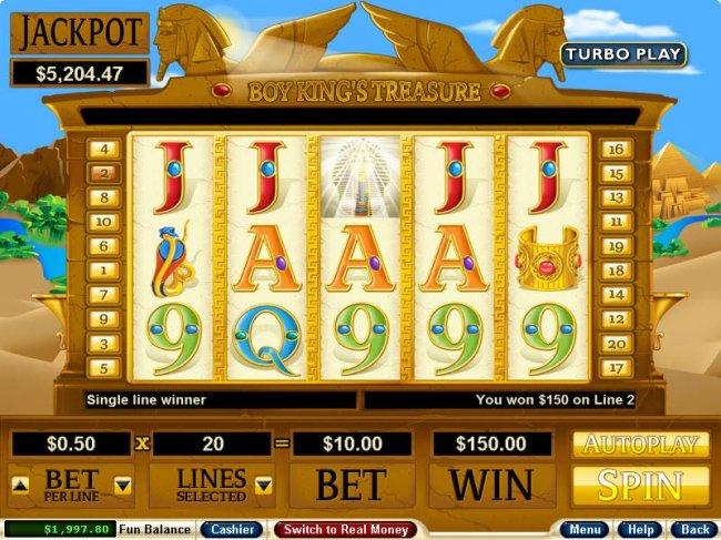 Boy King's Treasure by Free Slots 247