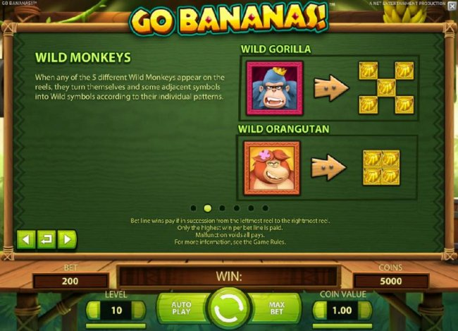 Wild Monkeys symbols and rules by Free Slots 247