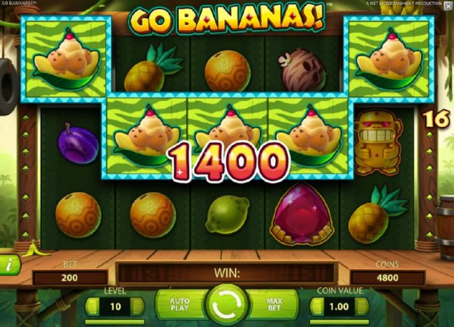 Free Slots 247 - Five of a kind leads to a 1400 coin big win!