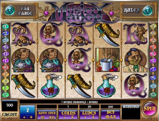 Free Slots 247 - Main game board featuring five reels and 20 paylines with a $200,000 max payout.