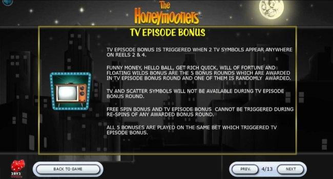 TV Episode Bonus Rules by Free Slots 247
