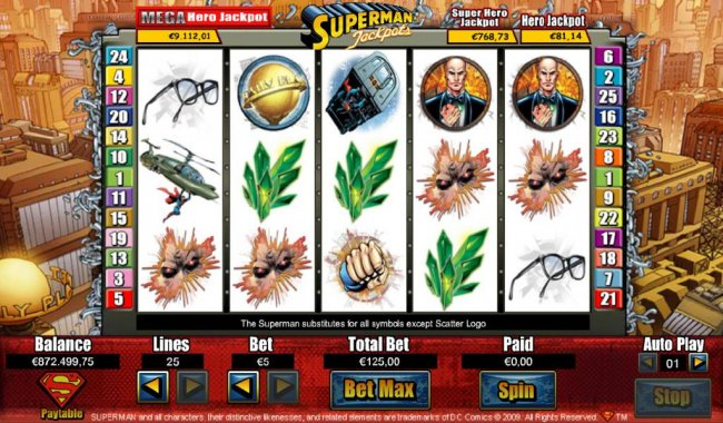 Superman Jackpots by Free Slots 247