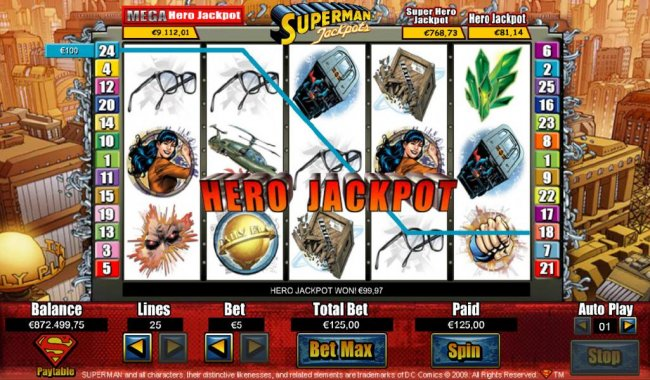 Images of Superman Jackpots