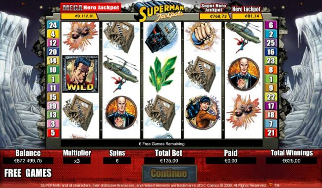 Free Slots 247 image of Superman Jackpots