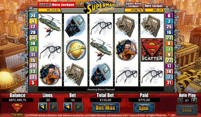 Free Slots 247 - The Free Spin feature pays out a $775 big win