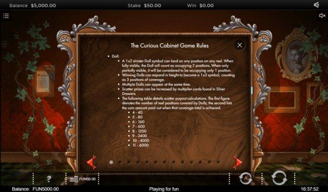 The Curious Cabinet screenshot
