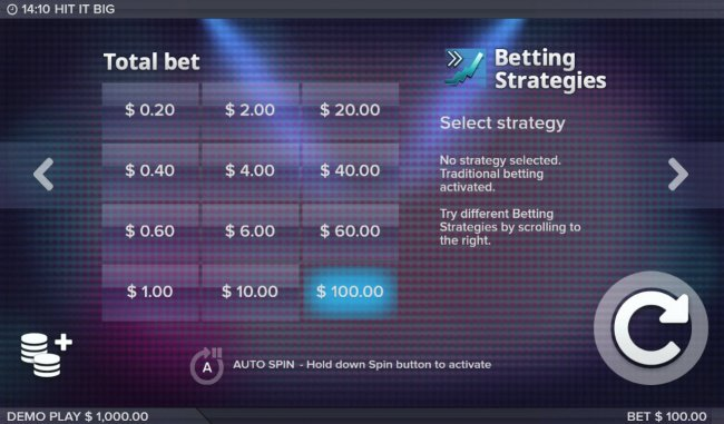 Available Betting Options - Free Slots 247