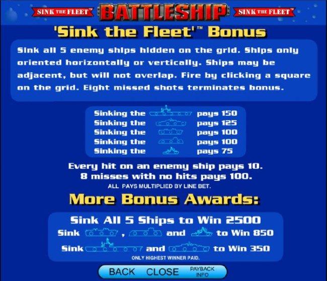 sink the fleet bonus payout table - Free Slots 247
