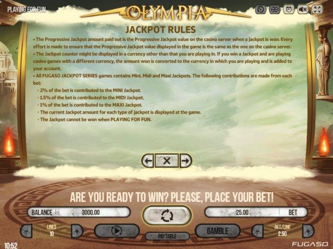 Free Slots 247 - Jackpot Rules
