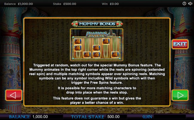 Mummy Bonus Rules by Free Slots 247