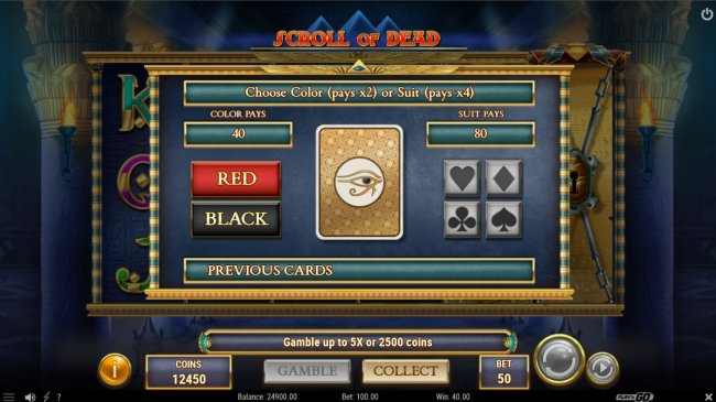 Free Slots 247 - Gamble feature is available after every win