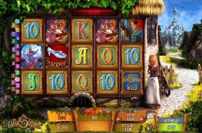 main game board featuring 5 reels and 20 paylines by Free Slots 247