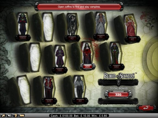 Free Slots 247 - bonus game ends when empty coffin is selected.
