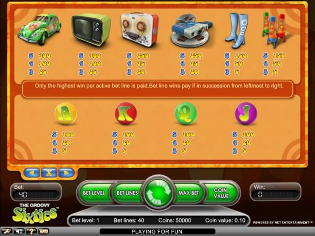 Groovy Sixties by Free Slots 247