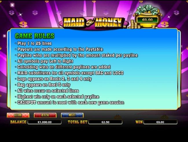 Maid o' Money by Free Slots 247