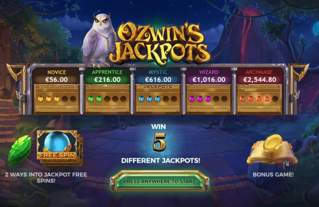 Images of Ozwin's Jackpots