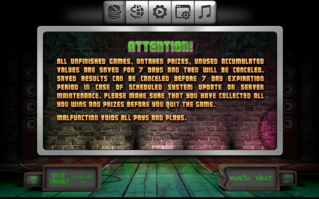 General Game Rules - Unfinished Games by Free Slots 247