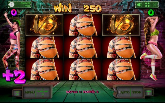 Multiple winning paylines triggers a 250 coin payout and awrds points to the wiining dancer. - Free Slots 247