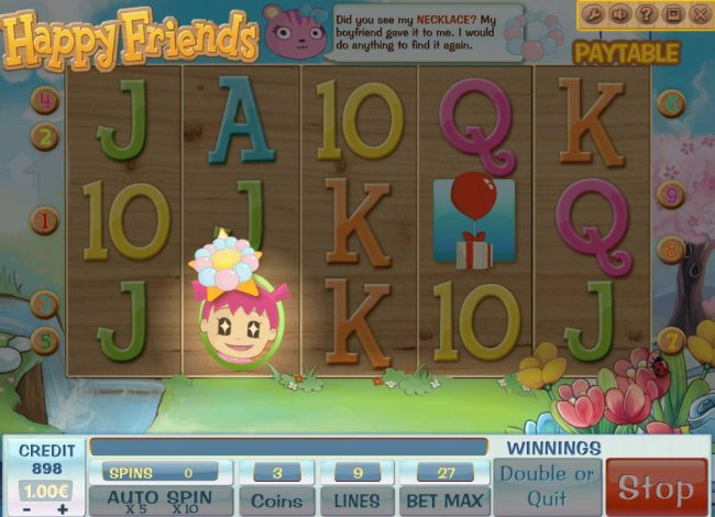 Finding the necklace triggers free spins feature. by Free Slots 247