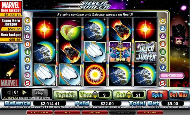 The Silver Surfer by Free Slots 247