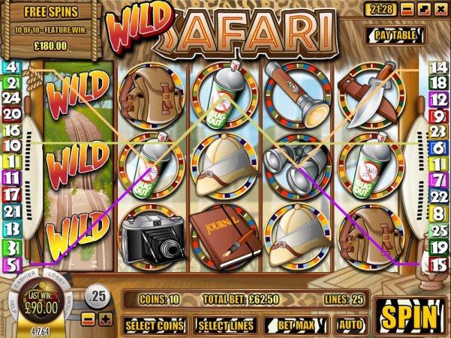 Free Slots 247 - multiple winning paylines triggered a $90 jackpot
