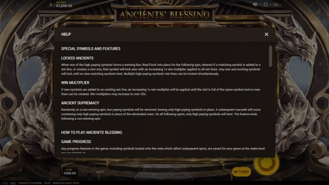 Ancients' Blessings by Free Slots 247