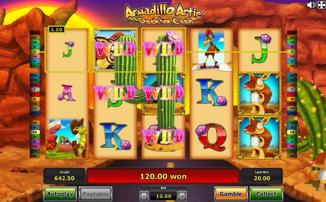 Free Slots 247 image of Armadillo Artie Dash for Cash