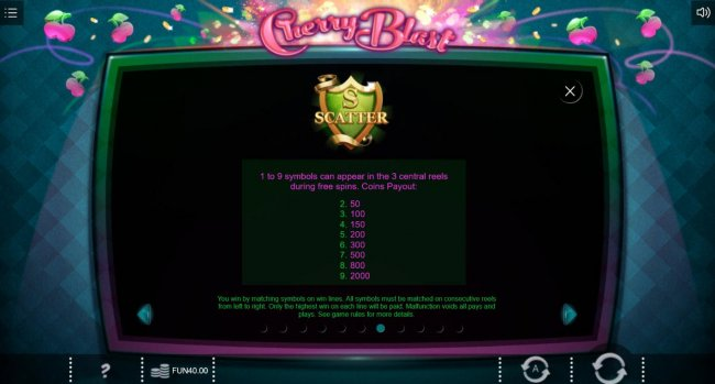 Free Slots 247 - S Scatter - 1 to 9 symbols can appear in the 3 central reels during free spins.
