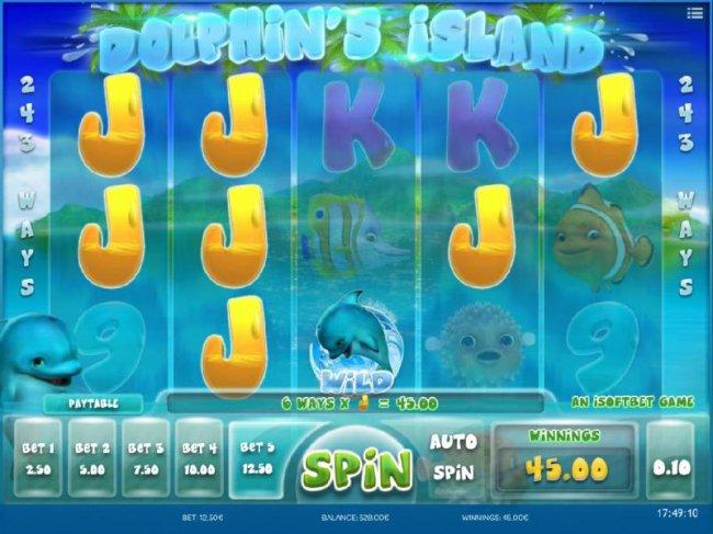 Free Slots 247 image of Dolphin's Island