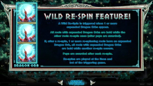 Free Slots 247 - Wild Re-Spin Feature Rules