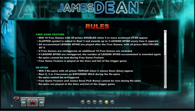 James Dean by Free Slots 247